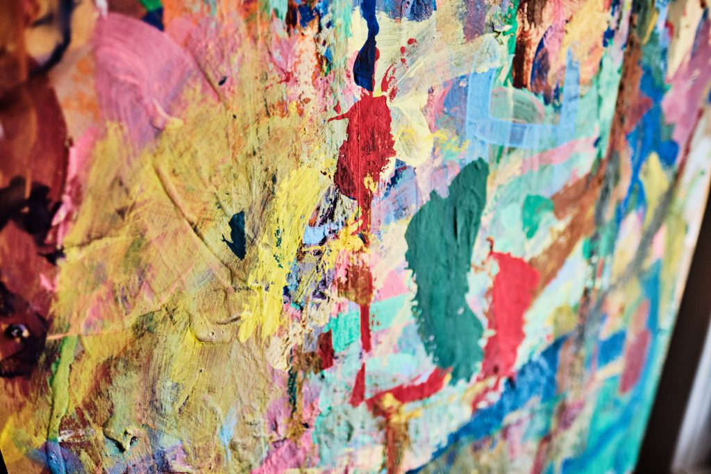 abstract colour photograph artwork at a nursery school